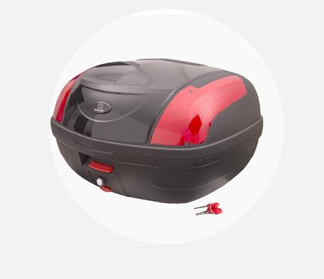 Kufer Moretti MR-889, czerwony odblask