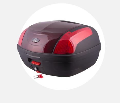 Kufer Moretti MR-889, czerwony, czerwony odblask