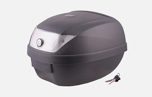 Kufer Moretti MR-807, 28 l, czarny, biały odblask