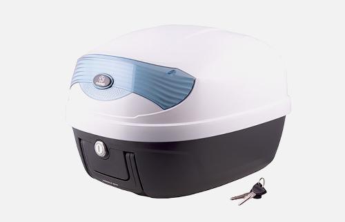Kufer Moretti MR-808, 28 l., biały, niebieski odblask