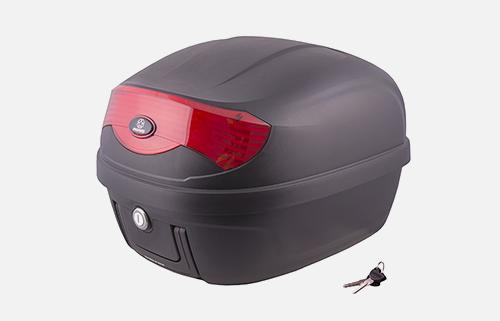 Kufer Moretti MR-808, 28 l, czarny, czerwony odblask
