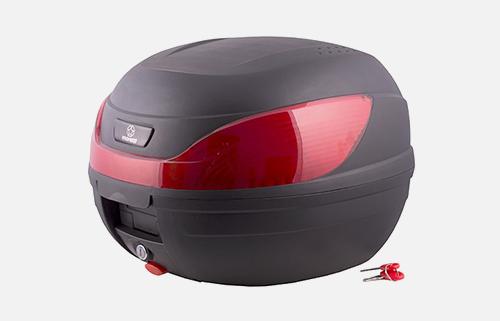 Kufer Moretti MR-866, 32 l., czarny, czerwony odblask