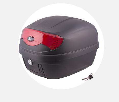Kufer Moretti MR-808, 28l, czarny, czerwony odblask