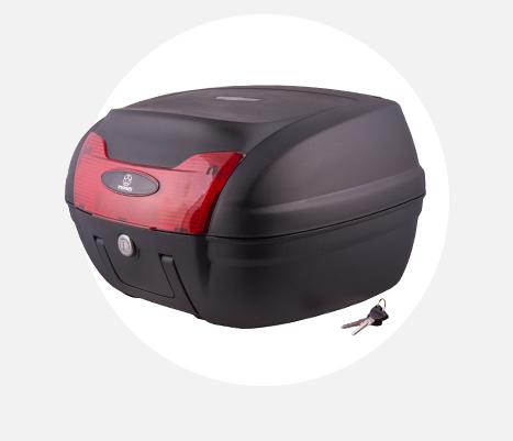 Kufer Moretti MR-879, czerwony odblask