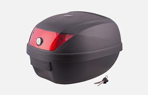 Kufer Moretti MR807, 28 l, czarny, czerwony odblask