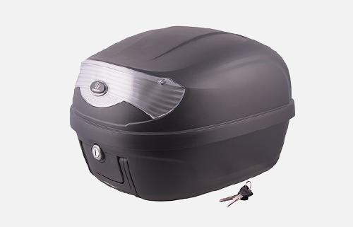 Kufer Moretti MR-808, 28 l, czarny, biały odblask