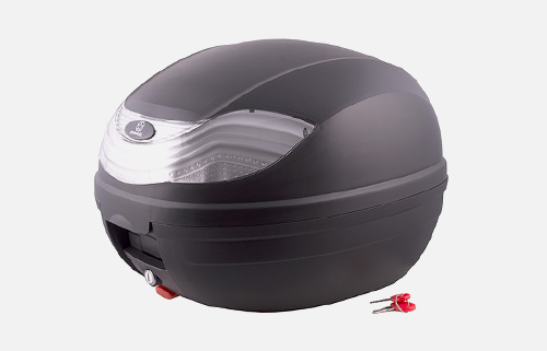 Kufer Moretti MR-815, 32 l., czarny, biały odblask