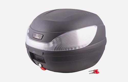 Kufer Moretti MR-866, 32 l., czarny, biały odblask