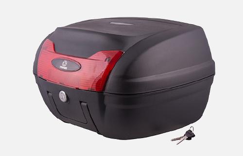 Kufer Moretti MR-879, 42 l., czarny, czerwony odblask
